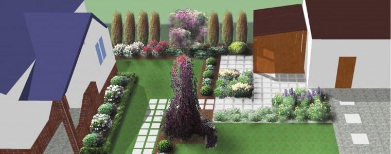 Projekt ogrodu w Poniatowej